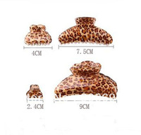 12Pcs Acrylic Sexy Leopard Hair Claw Jaws Animal Print  Hair Clips  Accessories- Free shipping