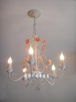 Lamps fashion rustic wrought iron crystal lamp restaurant lamp living room lights child bedroom lights pendant light lighting