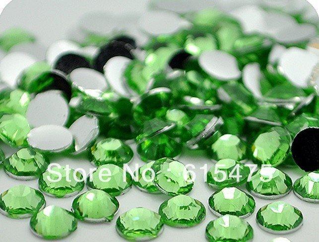5 мм Зеленый Цвет SS20 кристалл Смола стразами flatback, Бесплатная Доставка 30,000 шт./пакет