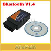 Wireless Bluetooth V1.4 OBDII OBD2 ELM32 Car Diagnostic Scan Tools Scanner Interface For BMW Ford Kia Honda