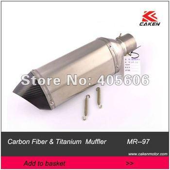 Cakenmotor  Brand New Motocross  Motocycle Pit bike   Modified muffler exhaust Titanium Pipe Carbon fiber Mouth