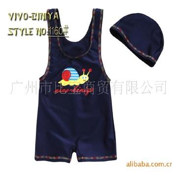 Freeshipping Vivo child swimwear male child baby one piece beach surf clothing hot spring vest swimming cap IVU
