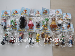 High Quality PVC Super Mario keychain Bros Luigi Action Figures 18pcs/set youshi mario Gift OPP retail(China (Mainland))