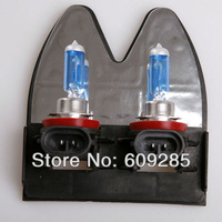 Wholesale Freeshipping White New H11 6000K 12V 100w Xenon Car HeadLight Bulb HID Halogen light Kit