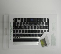 50pcs/lot Wireless Bluetooth Keyboard with Metal Aluminum Hard Protector Cover for iPad Mini