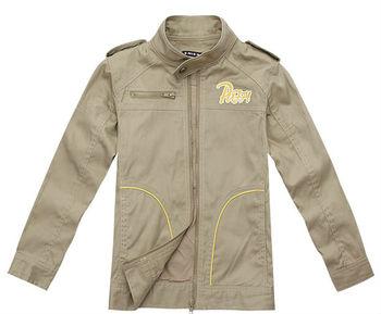 Wholesale 4 pcs spring Autumn brown grey Children Child boy Kids baby cotton coat jacket outwear clothes clothing top PECS09P81