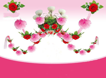 Free Shipping, Fashion 2013 New Wedding party decoration garland silk rose flowers wedding favors and gifts  PH8001