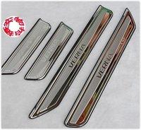 "2010-2011 Hyundai VERNA/Solaris High quality stainless steel Scuff Plate/Door Sill(Logo is ""VERNA"")"