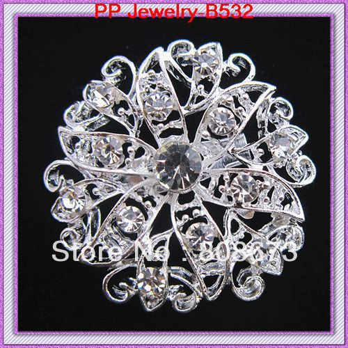 crystal flower small brooch for wedding invitation cake