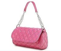 2013 fashion 10 candy colors women Diamond pattern metal chain hello kitty Single shoulder bag handbag for