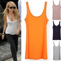 (Free Shipping)2013 New Comfortable All-match Solid Color High Elastic Women's Fashion Tank Tops&Camisole For Ladies