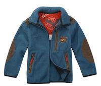 Wholesale 4pcs Autumn winter blue Children Child Boy Kids baby polar fleece casual Coat jacket outwear top age for 4-7Y  WM46022