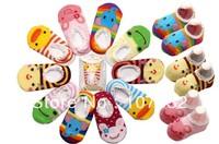 20pairs/lot Free Shipping,Animal,Cute Cartoon,baby short antiskid sock,baby wear,baby socks