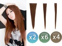 Real hair extension piece hair extension piece long straight hair long 12 set hair extension piece