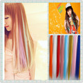 wholesale  5pcs/lot  Wig piece gradient multicolour straight hair stage periwig