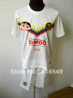 can customed !2014 newest style mexico white color soccer jerseys club america white soccer uniforms kits free EMS/DHL