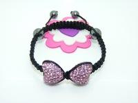 SB739 Wholesale Shambala Charm Disco Ball Bead Bracelet Rhinestone Crystal Fashion Jewelry Shambala