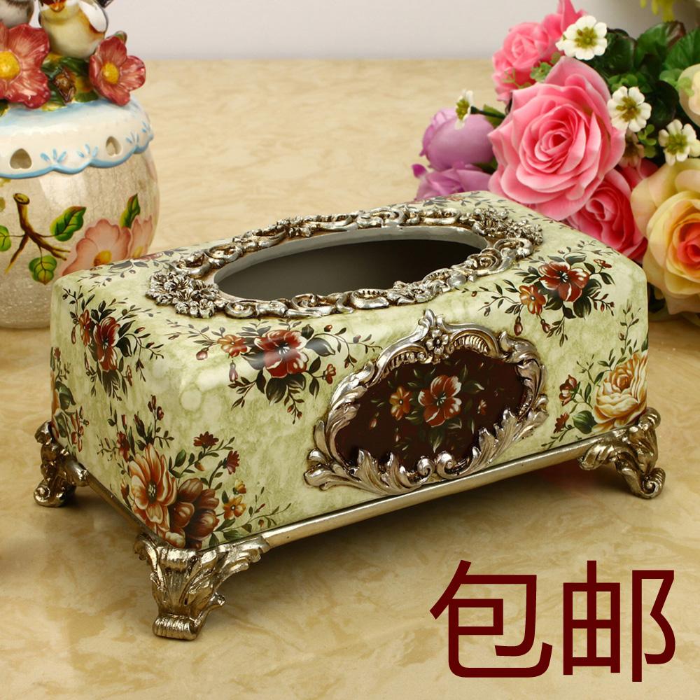 Resina caixa de tecido de moda nova decoração casa acessórios para casa rústica caixa de papel de bombeamento(China (Mainland))