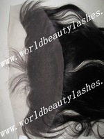 Free shipping virgin indian hair silky straight lace frontal 14 inches 13X4 inches  natural color