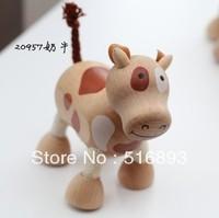 Anamalz Maple Wood Handmade Moveable Animals Toy Farm Animal Wooden Zoo Baby Educational Toys Child wooden animal dolls 72pcs