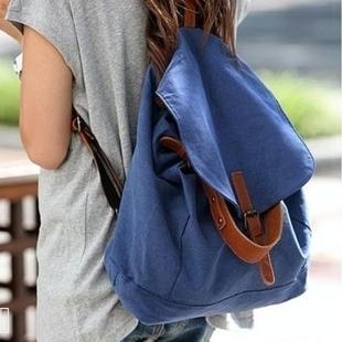 Canvas bag 2012 women's vintage handbag canvas bag backpack student bag school bag backpack