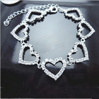 Free Shipping Wholesale High Quality Fashion  Crysta Silverl Bracelet For Women