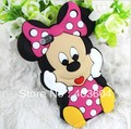Free Shipping New 3D Cute Cartoon Mouse Soft Silicone Case Cover for Apple iPhone 5
