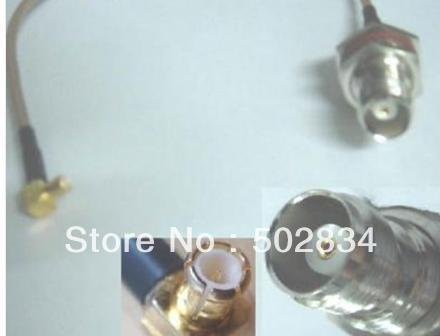 10pcs/lot TNC female nut bulkhead to MCX male right angle RG316 RG316 Cable 20cm(China (Mainland))