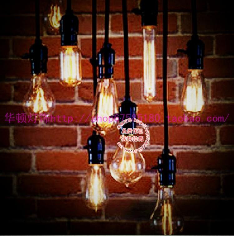 Silk light bulb pendant light reminisced american vintage(China (Mainland))