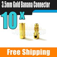High Quality 3.5mm Bullet Banana Connector Plug For RC Battery ESC Brushless Motor 10pcs/lot