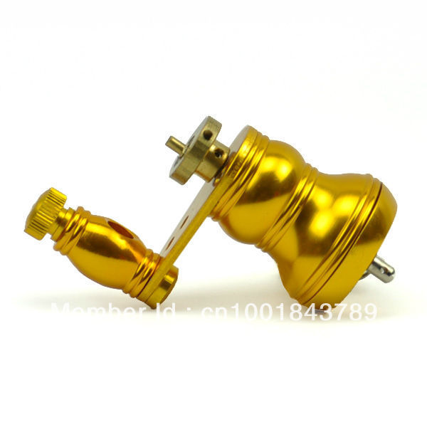 Rotary motor, steady body and smooth vibration gold yellow rotary tattoo machine gun equipment package Tattoo parts(China (Mainland))