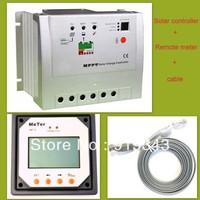 20A MPPT solar charge controller Trancer 2210RN 12V 24V solar controller regulator with Remote Meter display