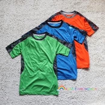 Child children's clothing basketball football child sports quick-drying short-sleeve T-shirt 130 - 170