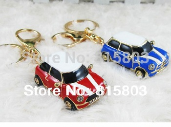 [1pc free shipping] Alloy Mini Car Model Styling Keychain Key Hanger Key Ring Key Chain