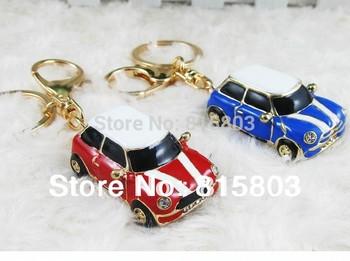 [1pc free shipping] Alloy Mini Car Model Styling Keychain Key Hanger Key Ring Key Chain