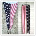 WOMENS USA AMERICAN FLAG STRIPE LEGGINGS SLIM FIT LADIES SIZE