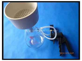 1000ml Buchner Funnel Apparatus, Filteration Funnel Kit used for Vacuum Suction Filting, with handheld vucuum pump