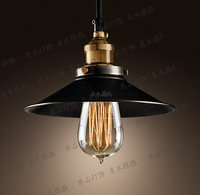 1 light edison bulb black pendant lamp, countryside, innovative DIY ceiling lamp , decorative copper pendant light