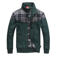 Men's clothing spring and autumn outerwear fashion male jacket patchwork outerwear