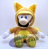 New Kitsune Tanooki Plush Doll Toy 8 inch 20cm Super Mario Bros Fox Luigi Retail 3pcs/lot