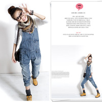2013 New Fashion women's overalls trousers,Plus sizes women's casual jeans denim suspenders pants jumpsuit free shipping J303