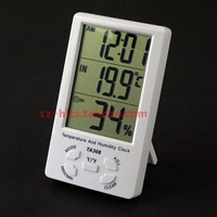 Ta308 thermometer multifunctional super large screen temperature and humidity meter time moisture meter