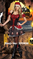 Free Shipping Halloween Women cosplay festival pirate corset/wear/dress/costumes,Dropshiping sexy costumes wholesale PA038