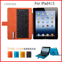Seenda for apple for ipad 2 3 4 for ipad bluetooth keyboard leather case cover protective case shell