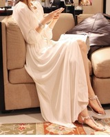 2012 autumn long-sleeve dress bohemia chiffon sexy full dress mopping the floor formal dress cardigan dress