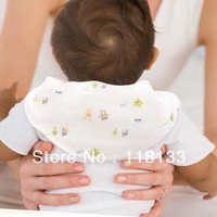 Free shipping wholesale GOOLEKIDS bamboo fibre baby sweat absorbent towel Four-layer gauze children's back pad
