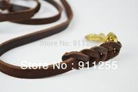 Free shipping ! Genuine leather braided pet traning leash,TCC-047