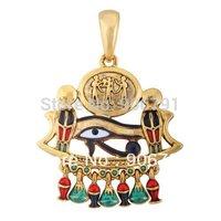 free shipping Gold cobra,eye of horus religious necklace pendant