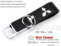Real Leahter Car Key buckles chain For Mitsubishi SPORT LANCER Colt ASX OUTLANDER EX