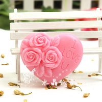 100 handmade essential oil soap heart rose moisturizing whitening moisturizing soap 10a204